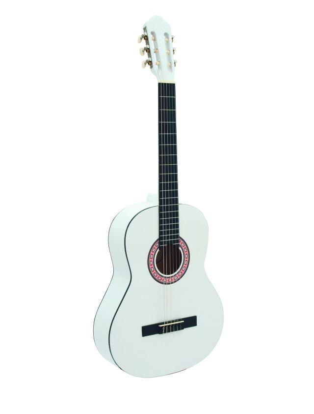 Dimavery AC-303 klasická kytara, bílá