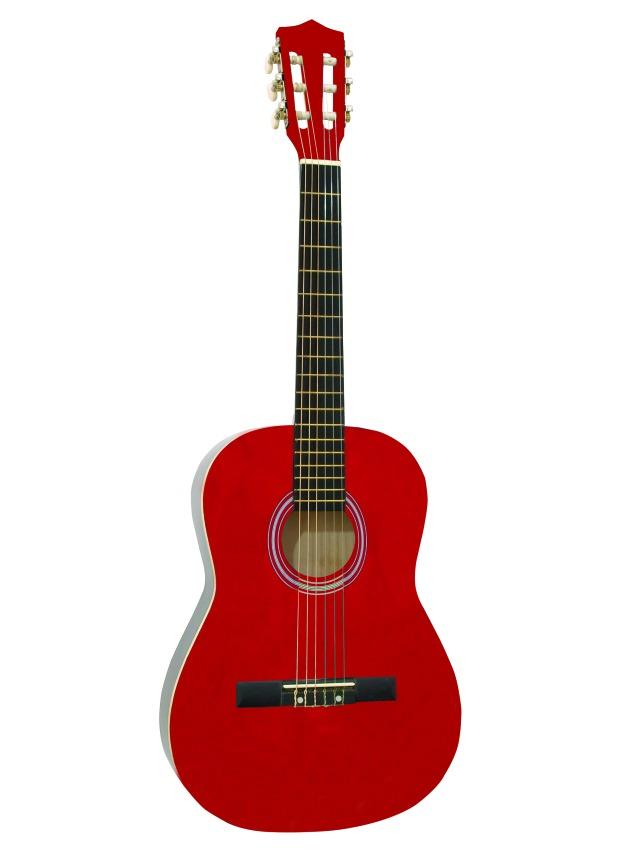 Fotografie Dimavery AC-300 klasická kytara 1/2, červená