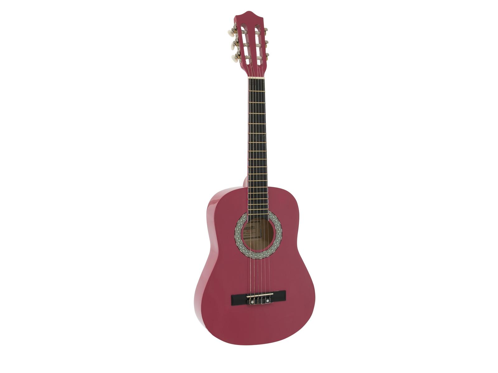 Fotografie Dimavery AC-300 klasická kytara 1/2, růžová
