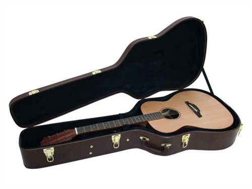 Fotografie Dimavery tvarovaný kufr pro westernovou kytaru, hnědý