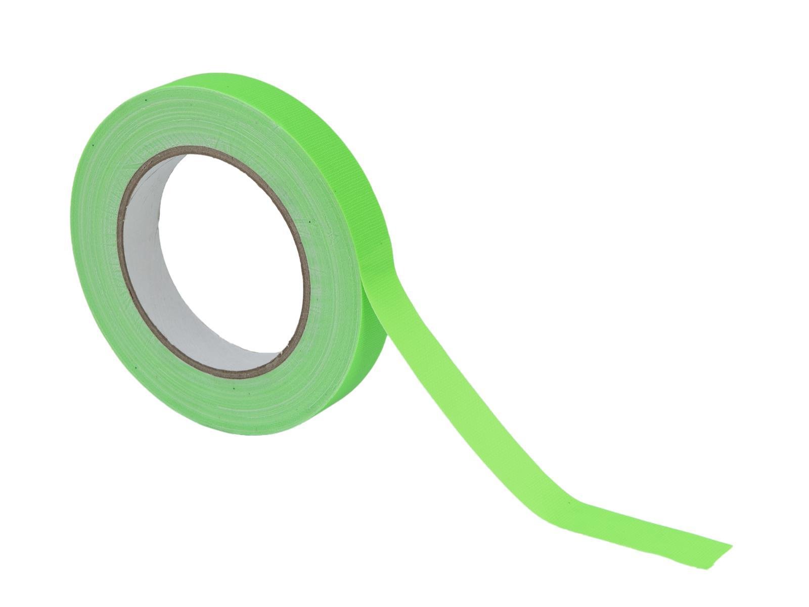 Gaffa páska 19mm x 25m neonově zelená, UV aktivní
