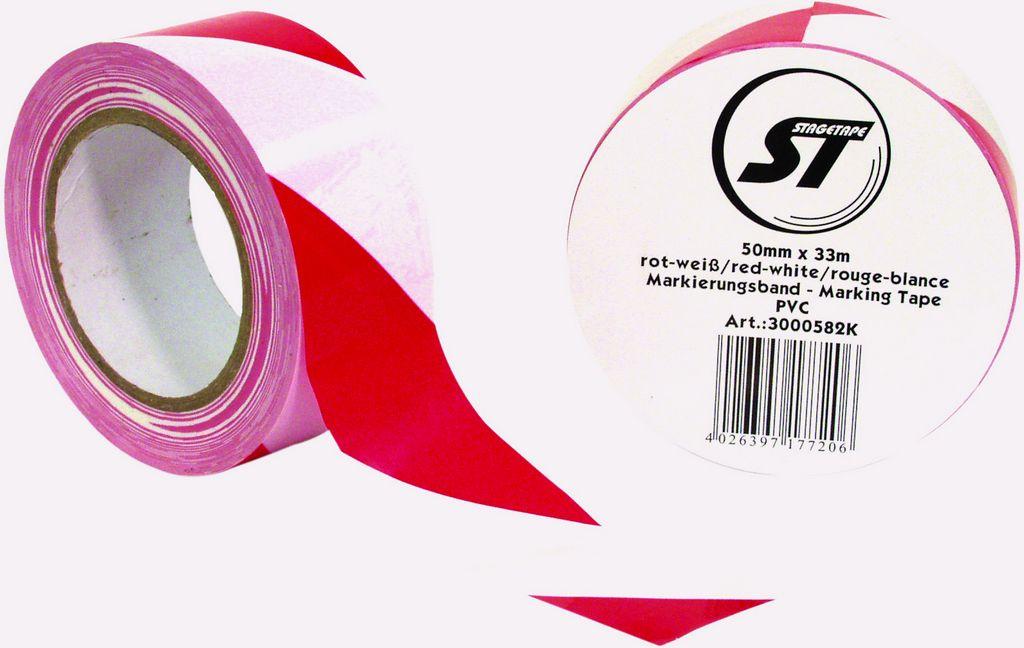 Gaffa standard červeno-bílá 50mmx50m