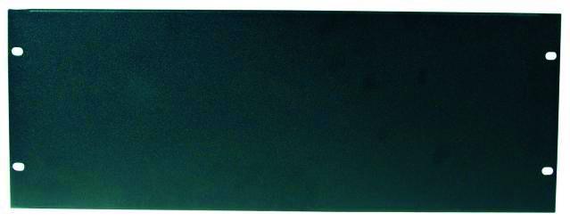 """Fotografie Přední panel zaslepovací 19"""" 4HE U profil, černý"""