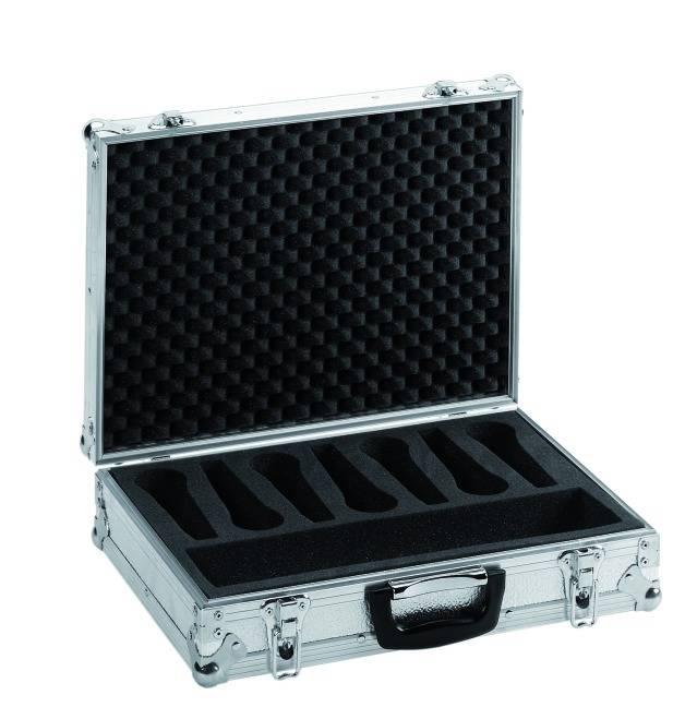 Fotografie Mikrofonní kufr Pro 7, stříbrný