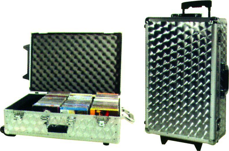 CD Case stříbrný s kolečky, 120 CD