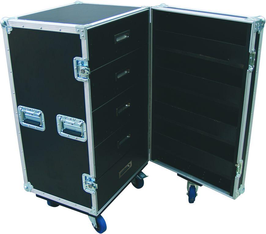 Roadinger TSF-1, univerzální racková skříň se zásuvkami a kolečky
