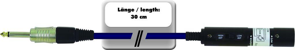 Fotografie Redukce AC-03 XLR samec - Jack 6,3 mono, 30 cm
