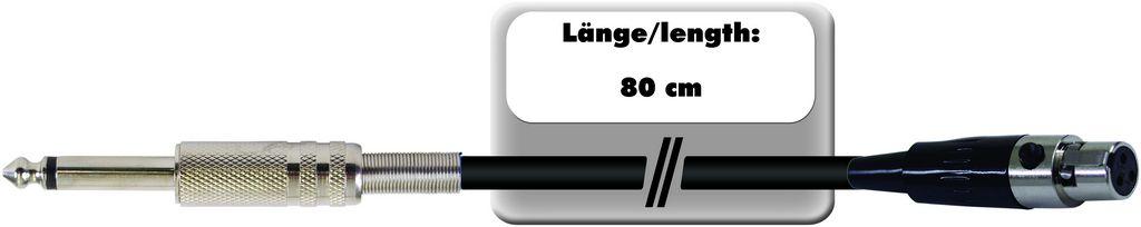 Fotografie Kabel AC-08 Mini XLR samice - Jack 6,3 mono, 80 cm