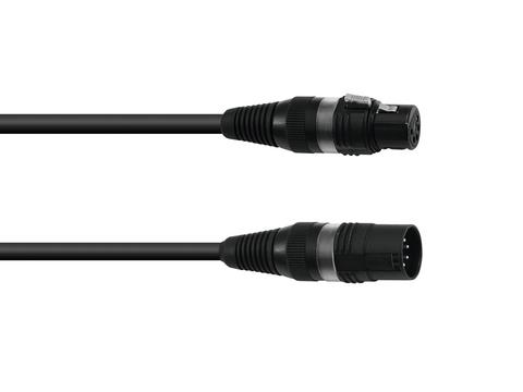 Image of Accessory DMX cable XLR 5pin 5m bk Hicon