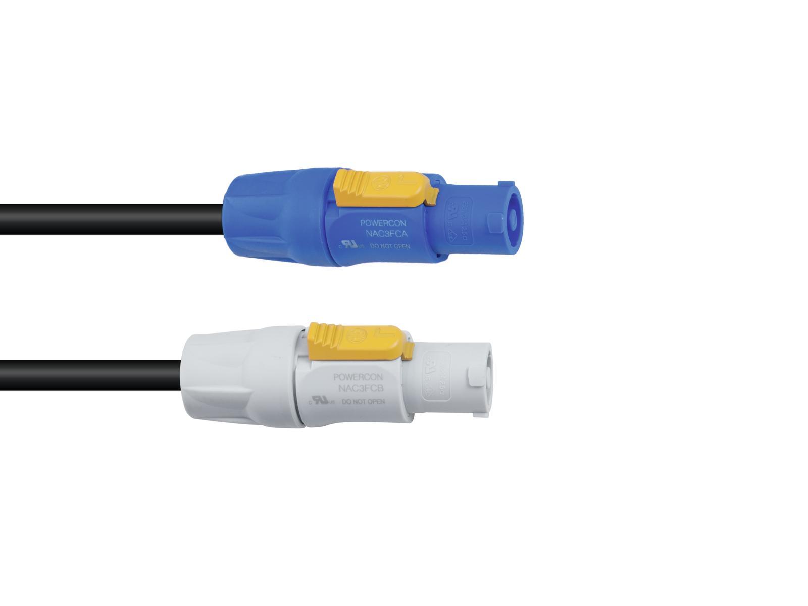 Fotografie PSSO Powercon prodlužovací kabel 1m, 3x1,5mm