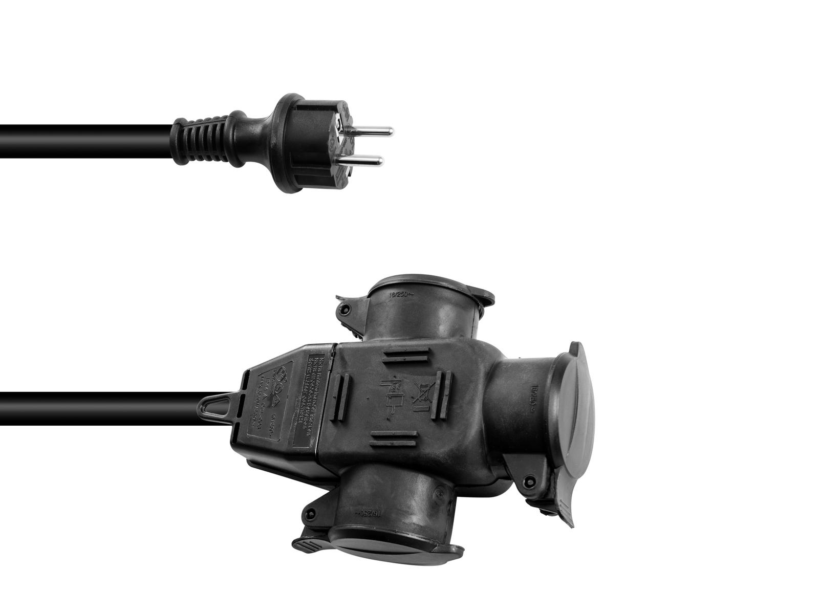 Prodlužovací kabel 3x2,5, délka 5m, 3x zásuvka