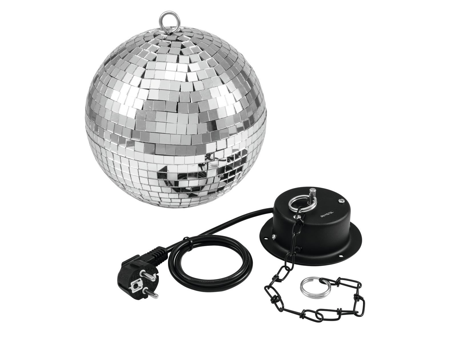 Zrcadlová koule 20cm SET, včetně motorku