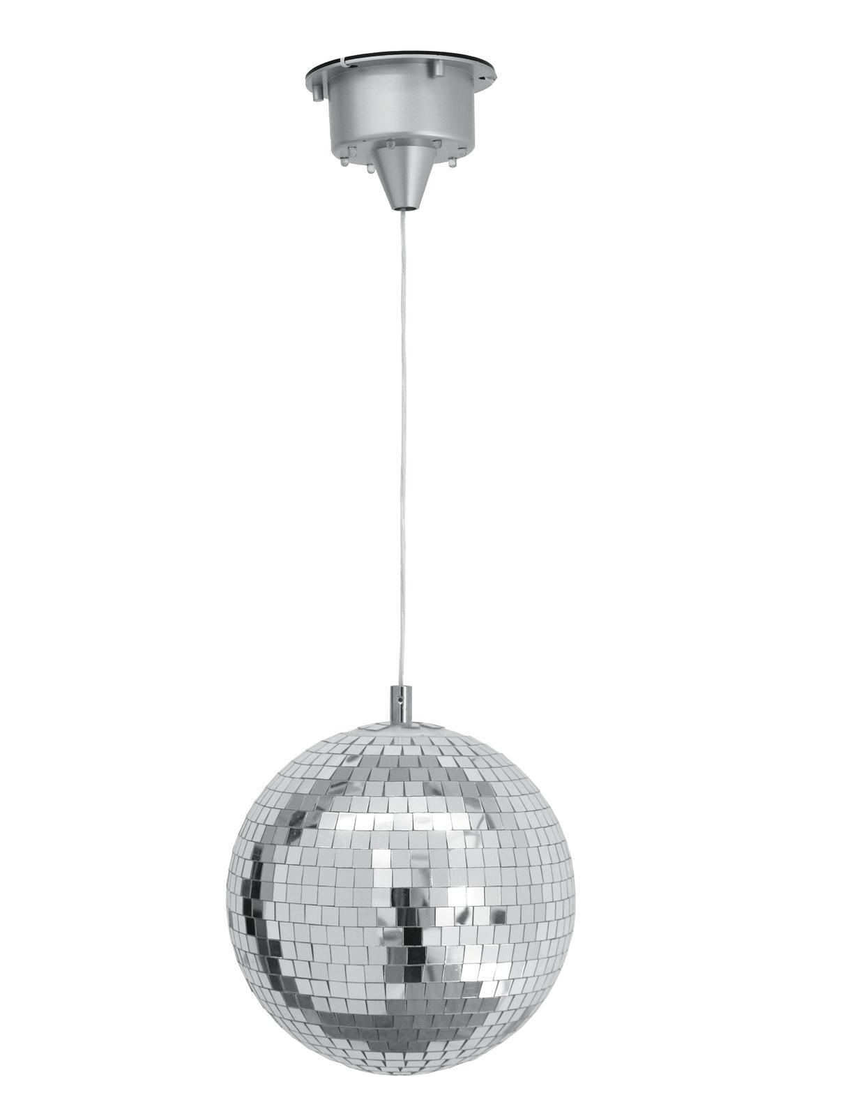 LED zrcadlová koule 20cm, včetně motorku