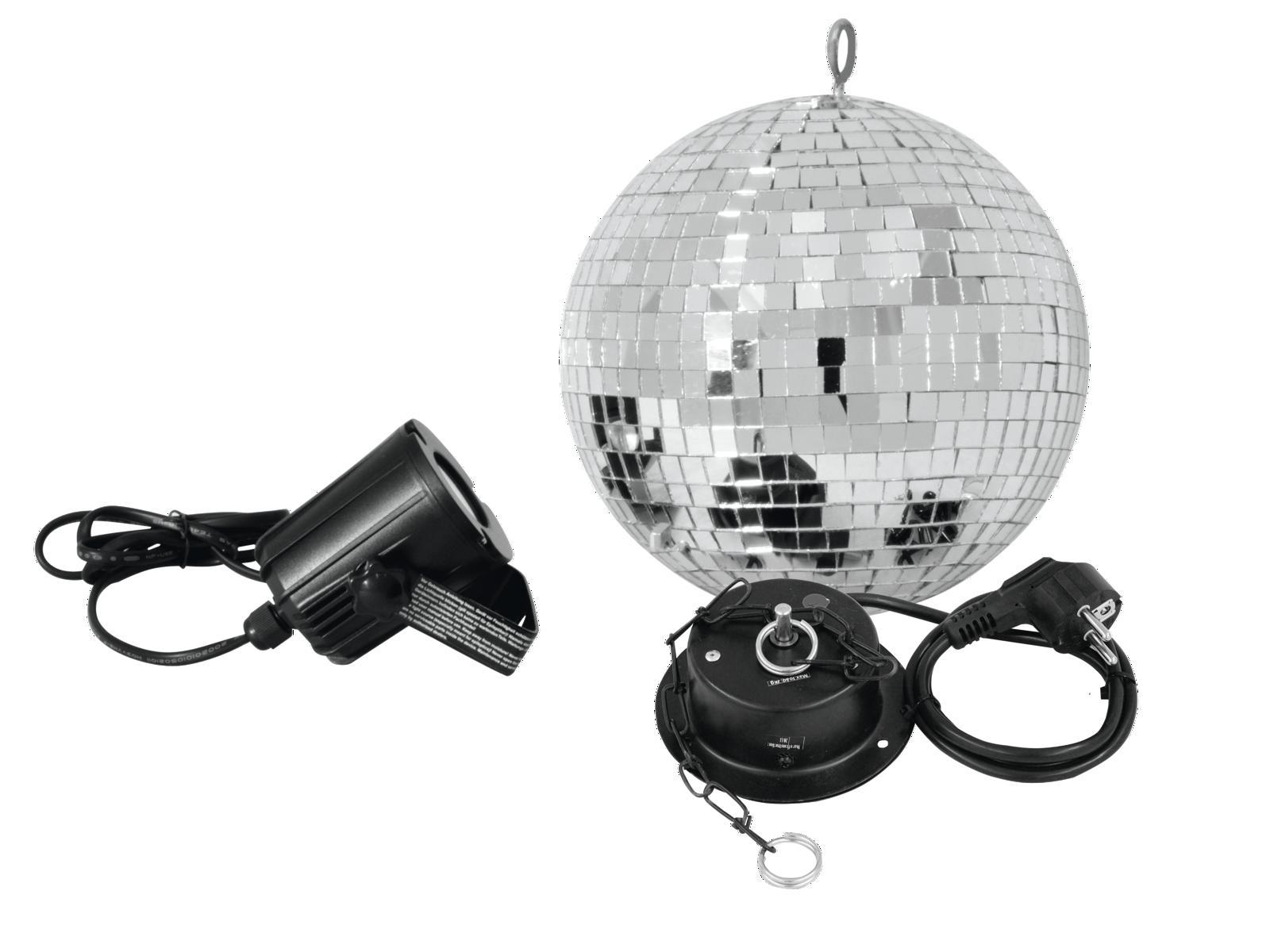 Fotografie Set LED zrcadlová koule 20 cm, 6000K