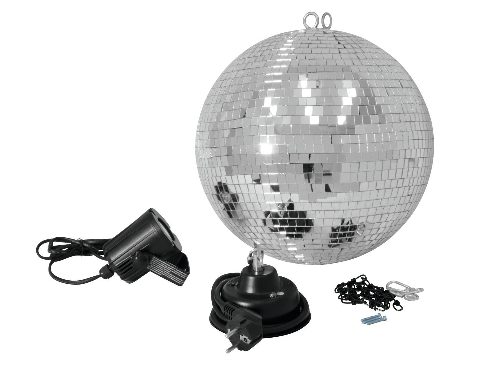 Fotografie Set LED zrcadlová koule 30 cm, 6000K