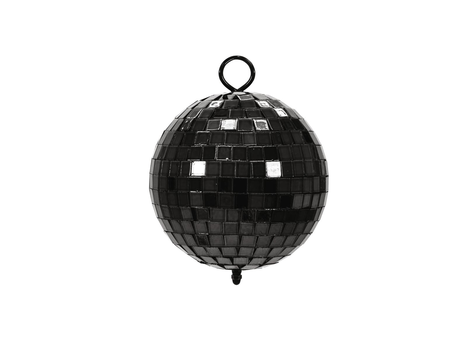 Zrcadlová koule 10 cm, černá