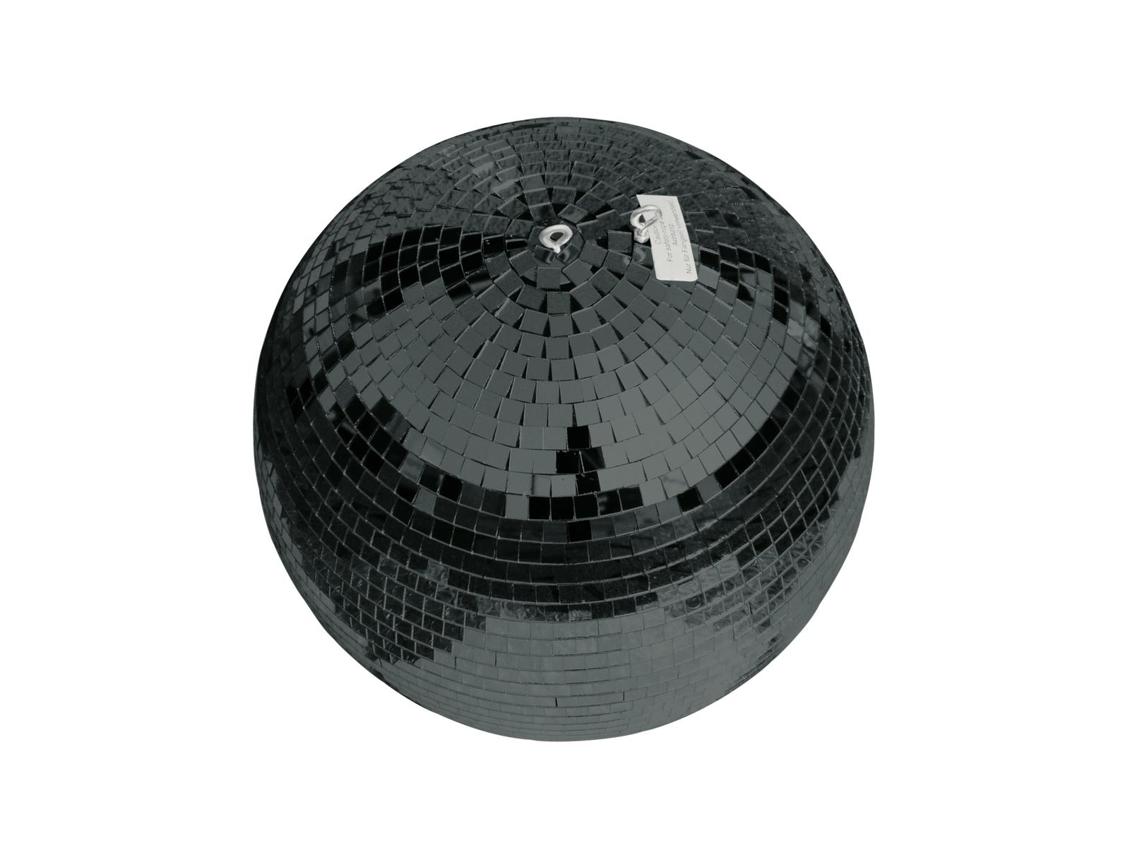 Zrcadlová koule 30 cm, černá