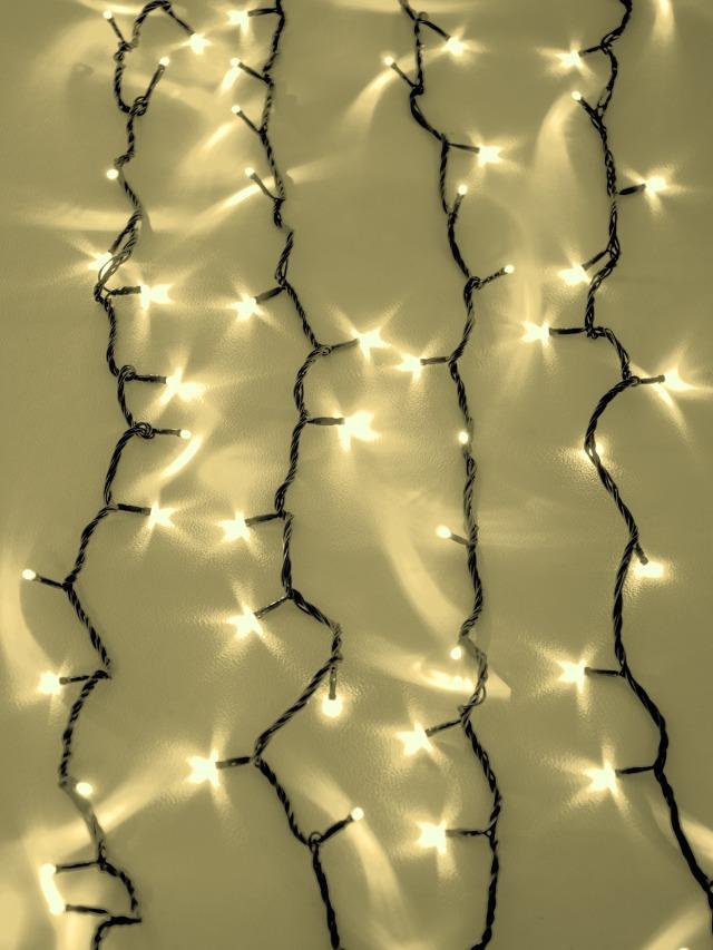 Eurolite LED světelný závěs 2400 LED diod 3200K, bílý