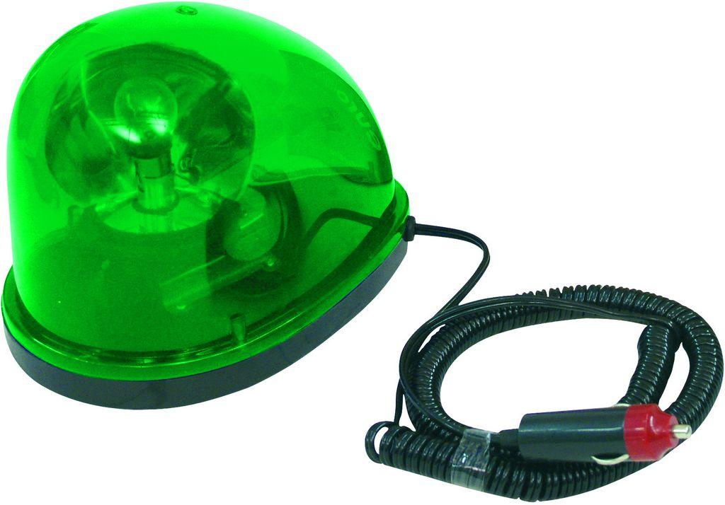 Maják policejní Starsky, 12V/21W, zelený