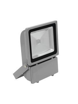 Eurolite LED IP FL-100 COB RGB 120° s dálkovým ovladačem, stříbrný