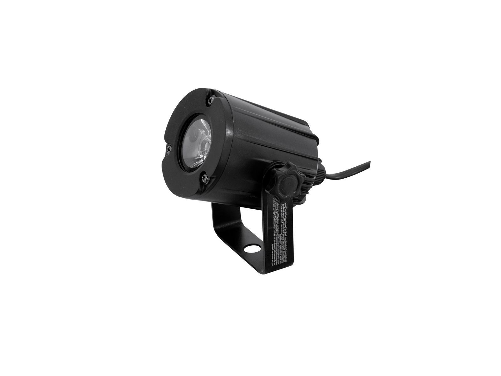 Eurolite LED spot 3W, 3200K, 6°, černý