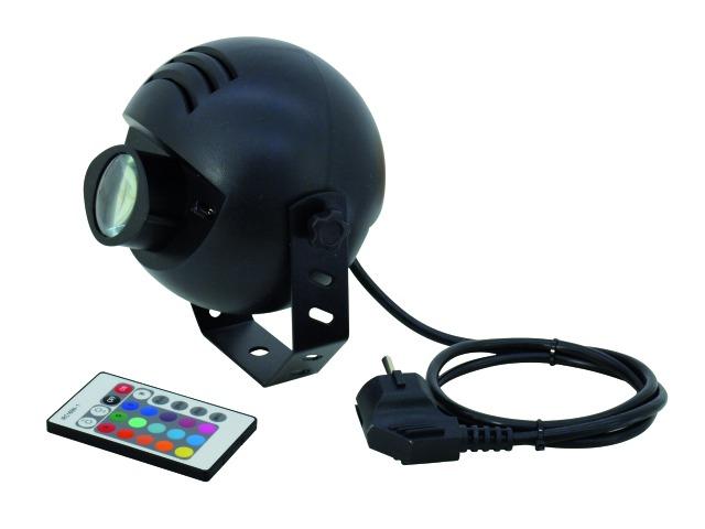 Eurolite LED Color Spot 1x9W TCL, s dálkovým ovladačem