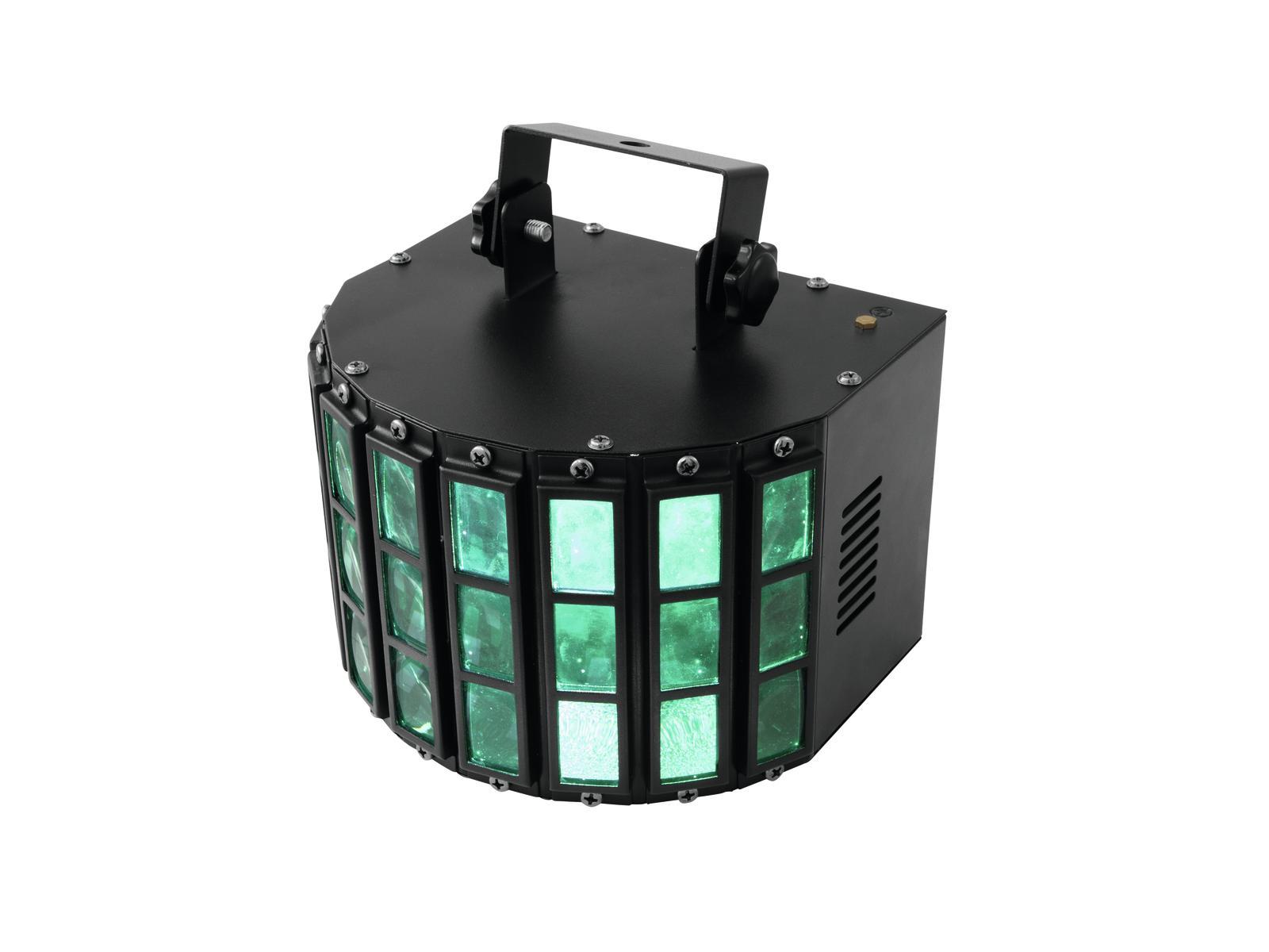 Eurolite LED Derby 6x 3W RGBAW, paprskový efekt