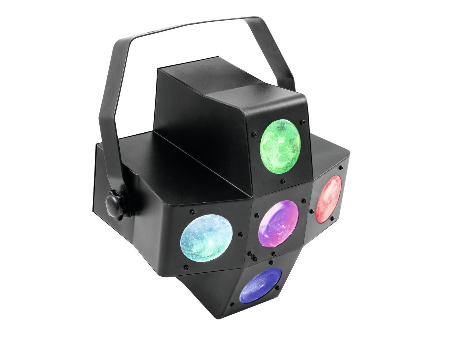 Eurolite LED Pentagon 20x1W RGBAW LED diody, paprskový efekt