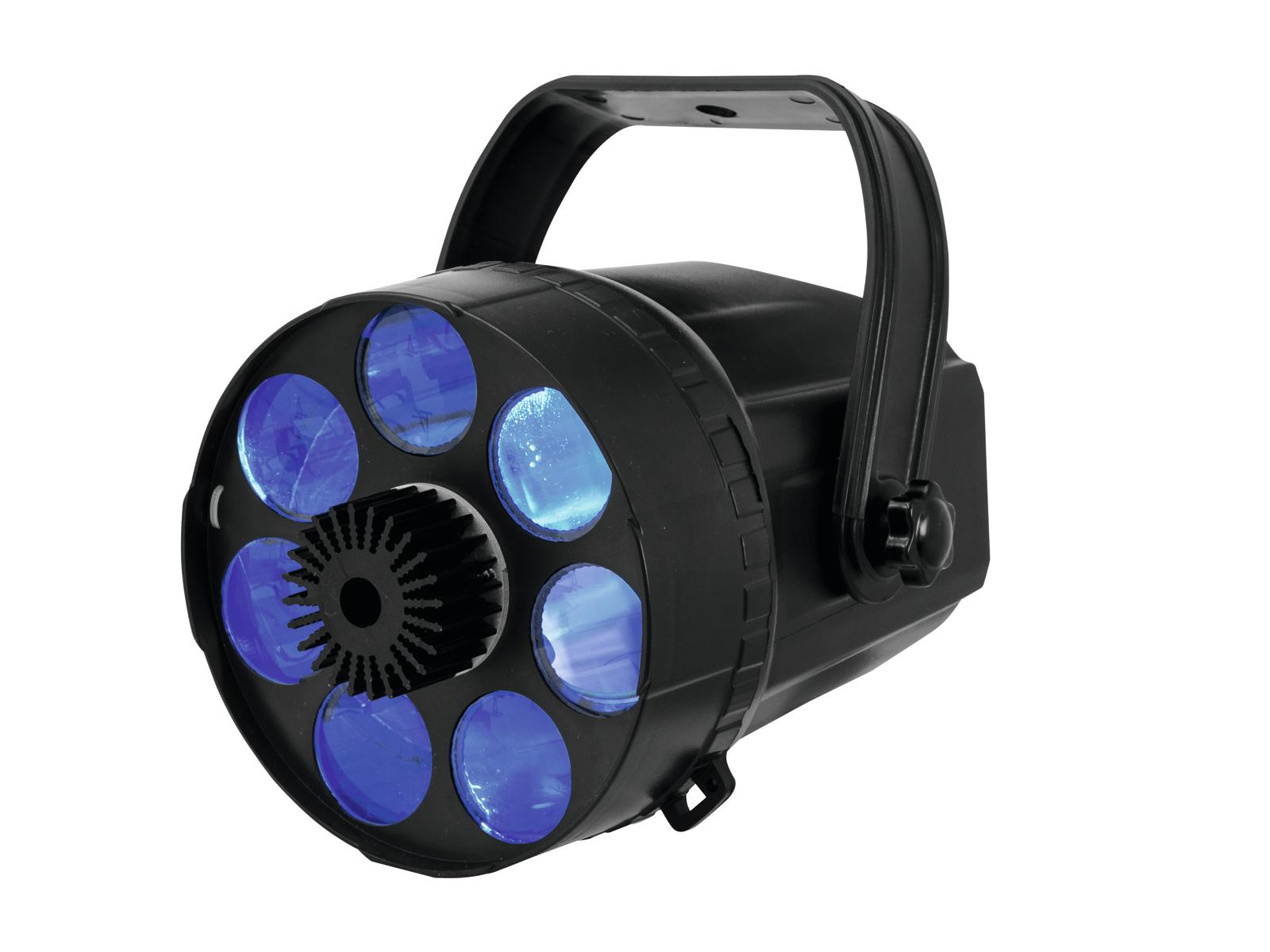 Eurolite LED Acis 6x 3W RGBAWP, paprskový efekt