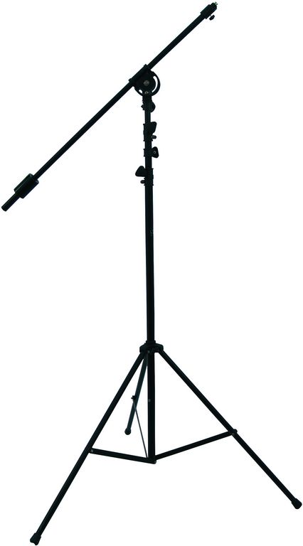 Výsuvný mikrofonní stativ černý max. výška 390 cm