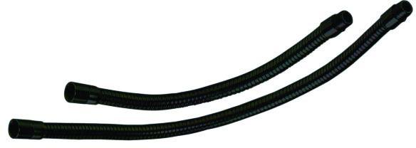 Husí krk XLR/XLR, 21cm, černý