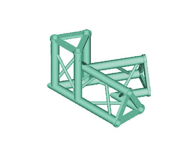Trisystem PAC 22 PAC-20-3 corner 3-way 60°