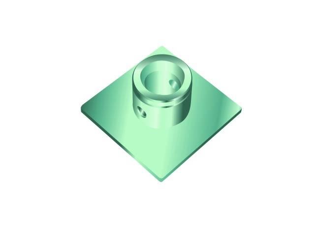 Singlelock základní deska SBP (čtvercová), samice
