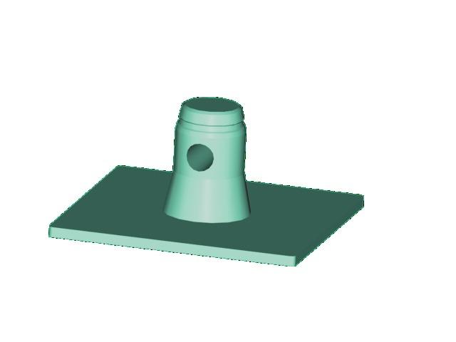 Singlelock základní deska SBPM (čtvercová), samec