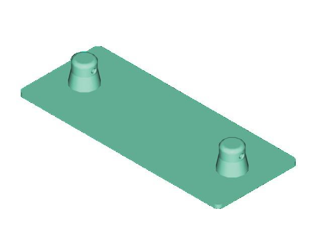Decolock DQ2-BPM základní deska samec