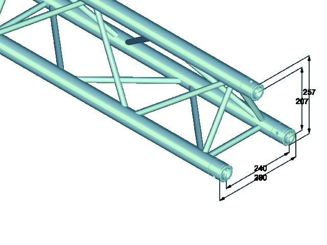 Trilock E-GL33 5000 3-way cross beam