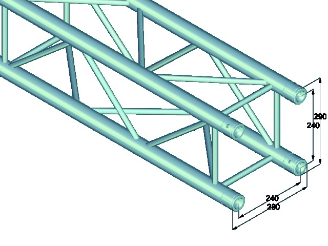 Quadlock QL-ET34-1000 4-way cross beam