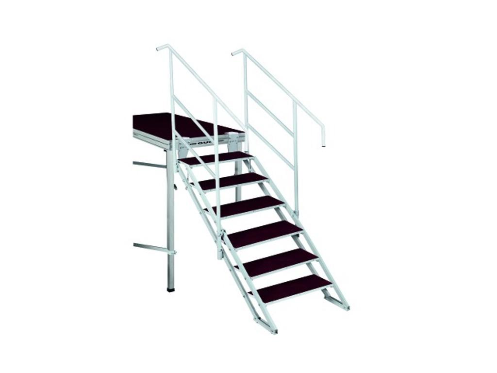 Schodiště s 6 stupínky, pro výšku pódia 90-180cm