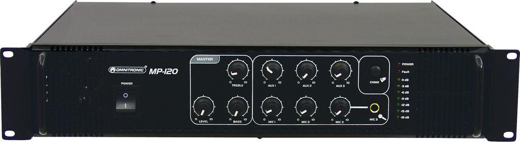 Omnitronic MP-120, zesilovač, 120 W, 100 V