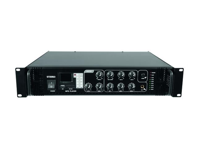 Omnitronic MP-250P PA, 100V zesilovač, USB, MP3