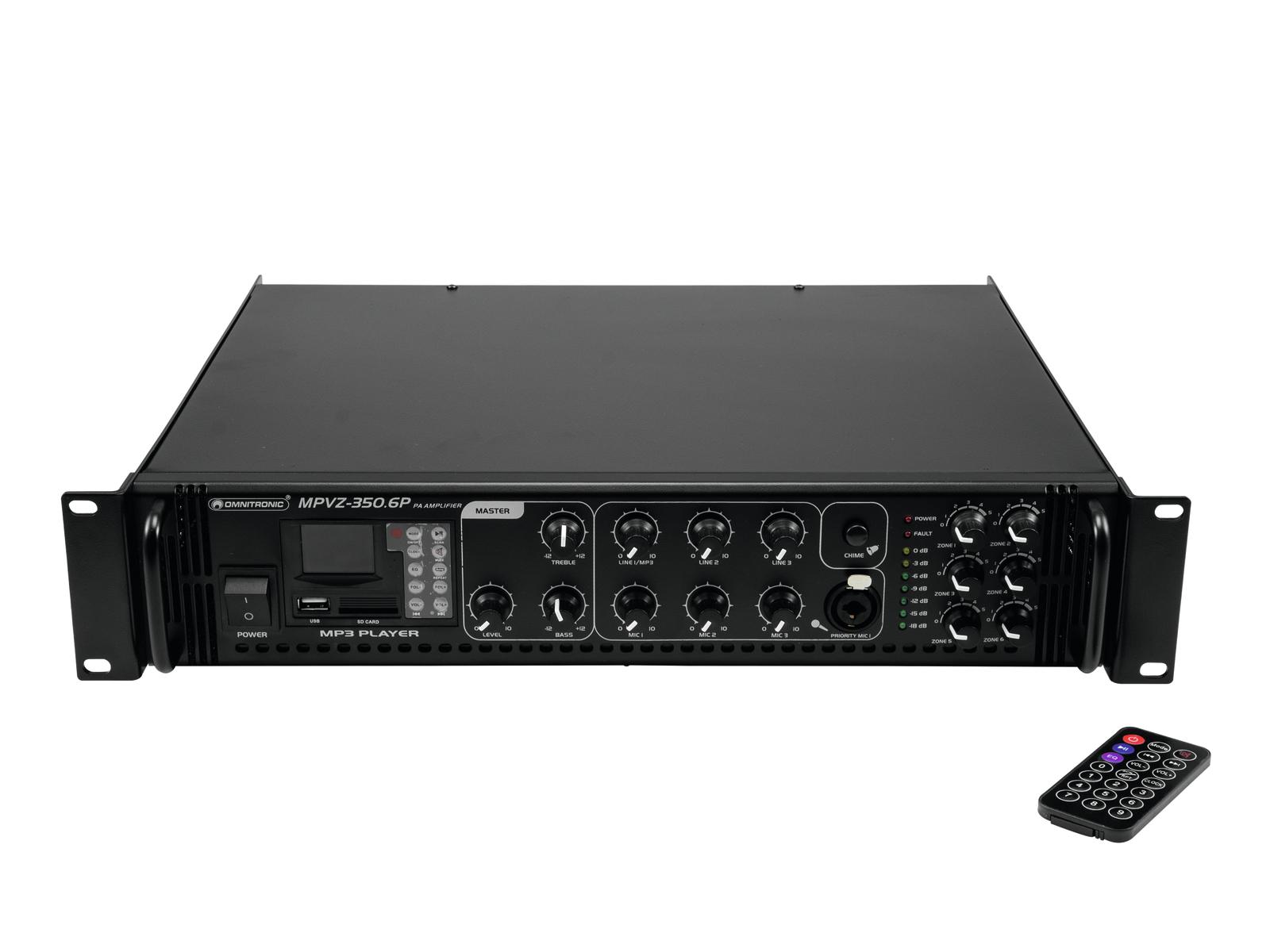 Omnitronic MPVZ-350.6P PA zesilovač