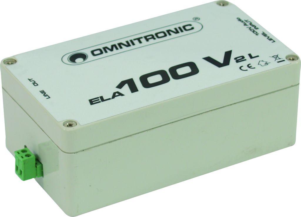 Fotografie Omnitronic ELA-100V-2-L transformátor