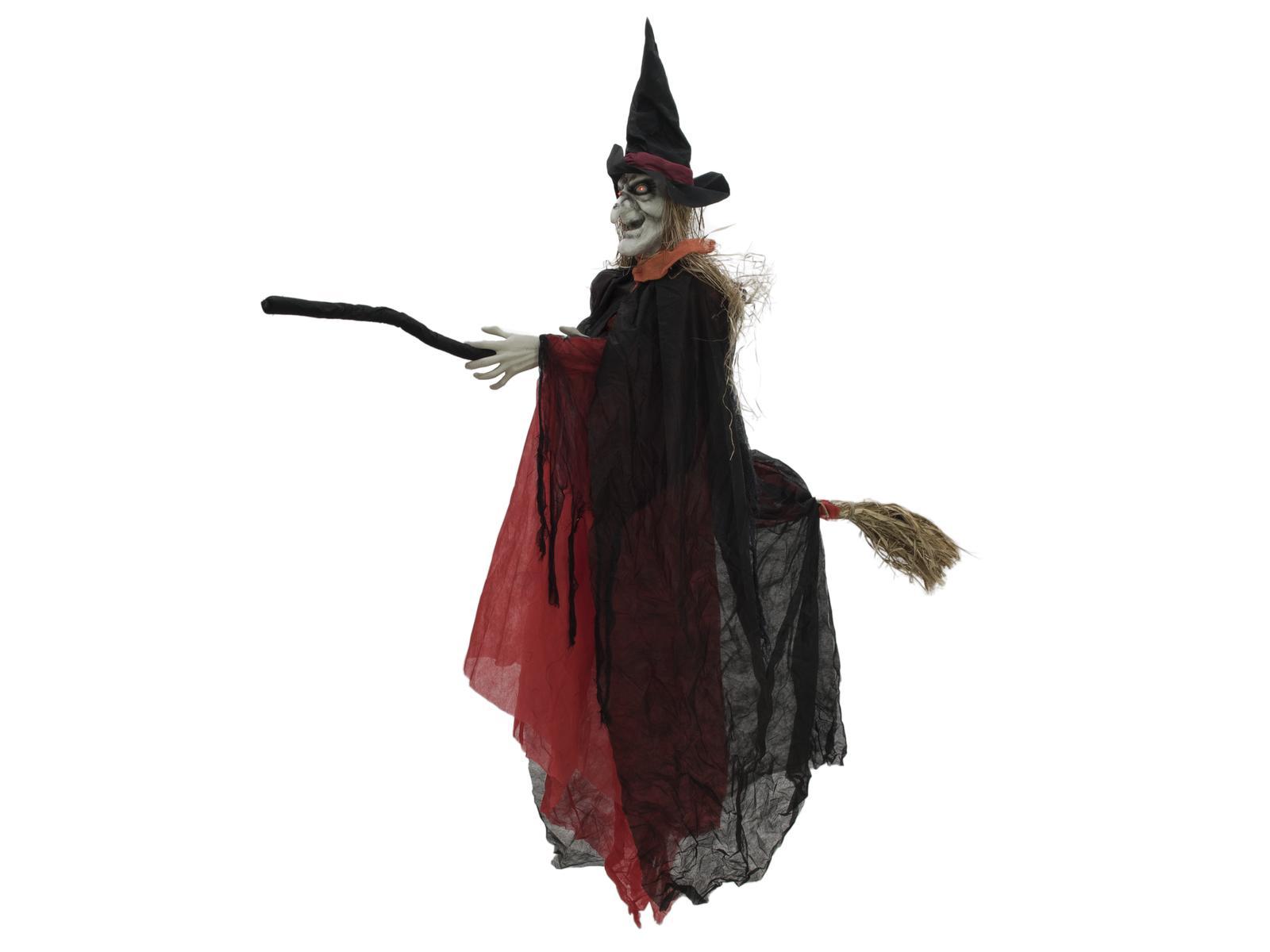 Halloween čarodějnice na koštěti, 170cm