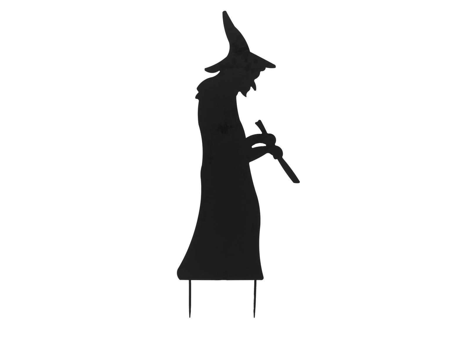 Europalms kovová silueta čarodejnice s lžící, černá, 110cm