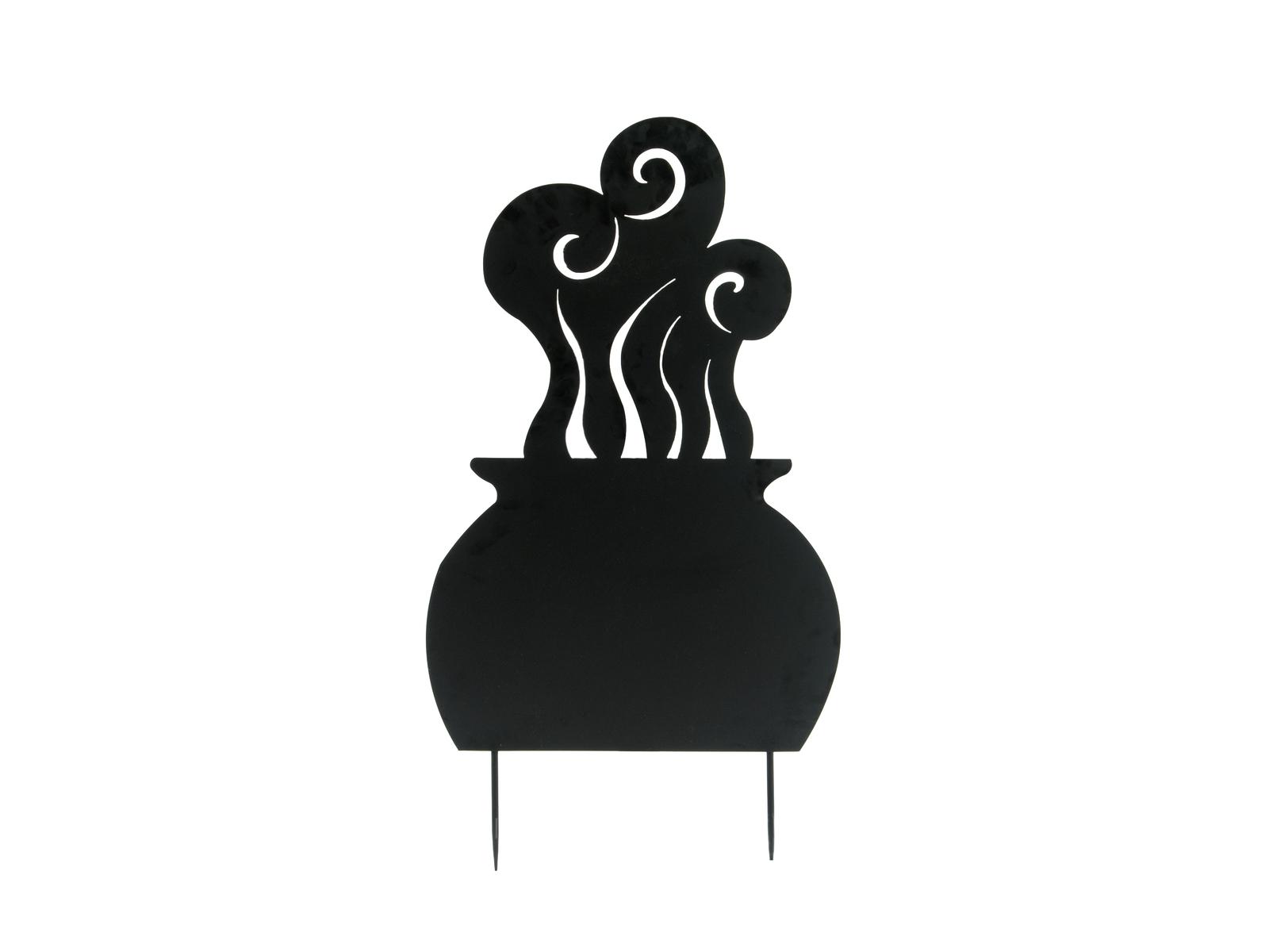 Europalms kovová silueta čarodejnice, černá, 100cm