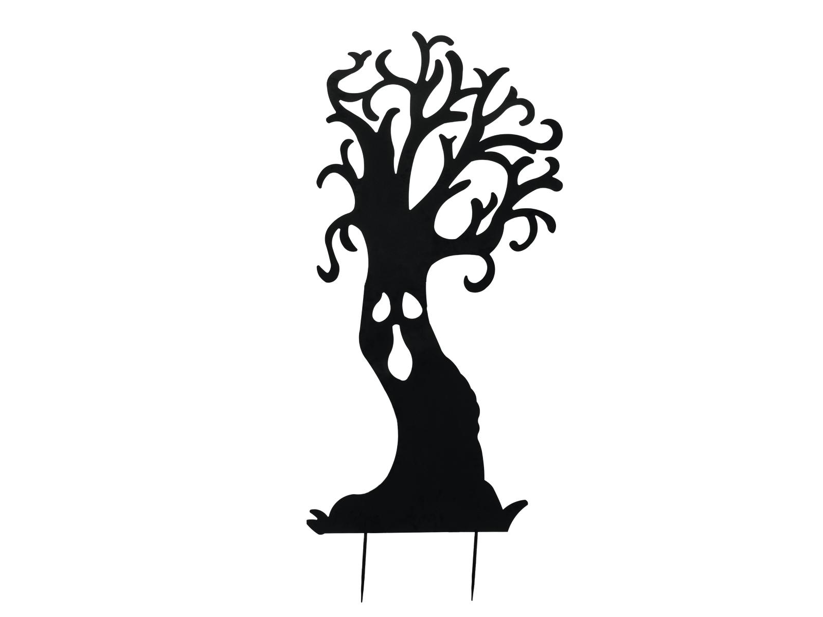 Europalms kovová silueta strom duchů, černá, 168cm