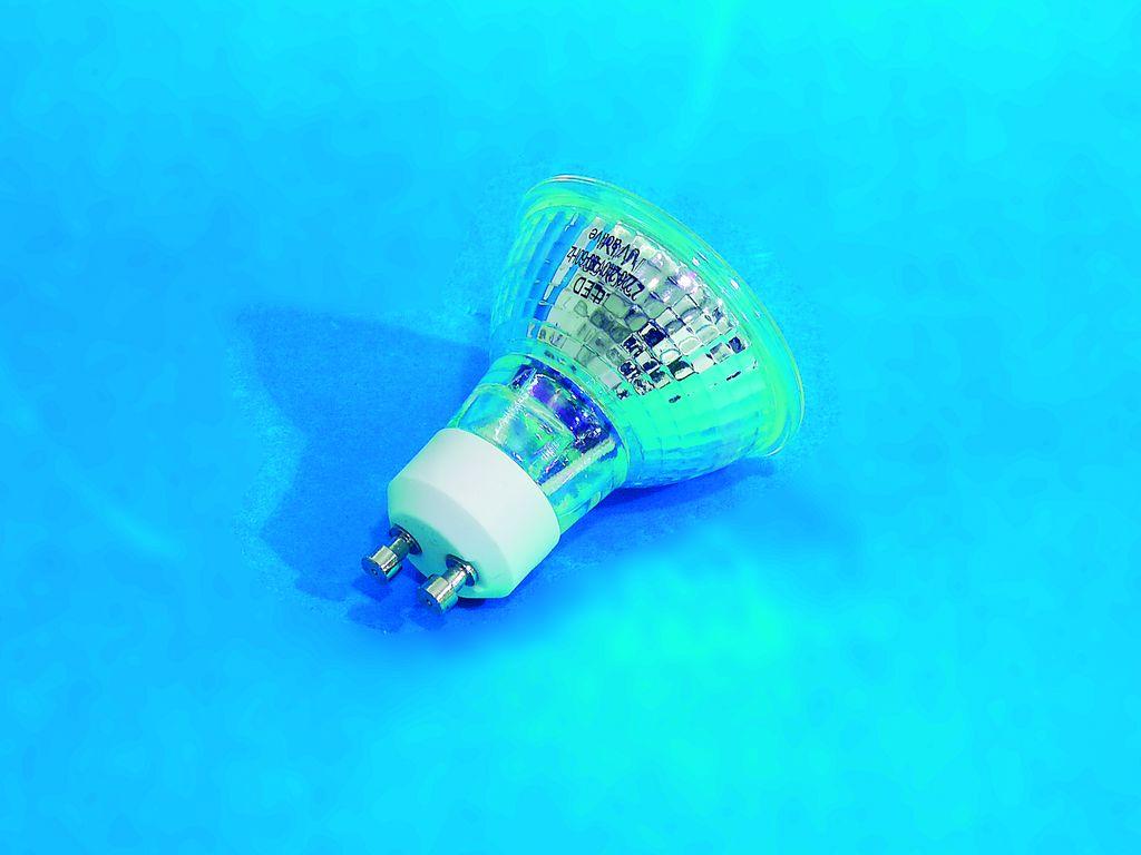 230V GU-10 18 LED Omnilux, modrá