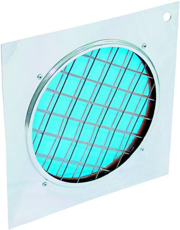 Dichrofiltr PAR-56 modrý, stříbrný rámeček