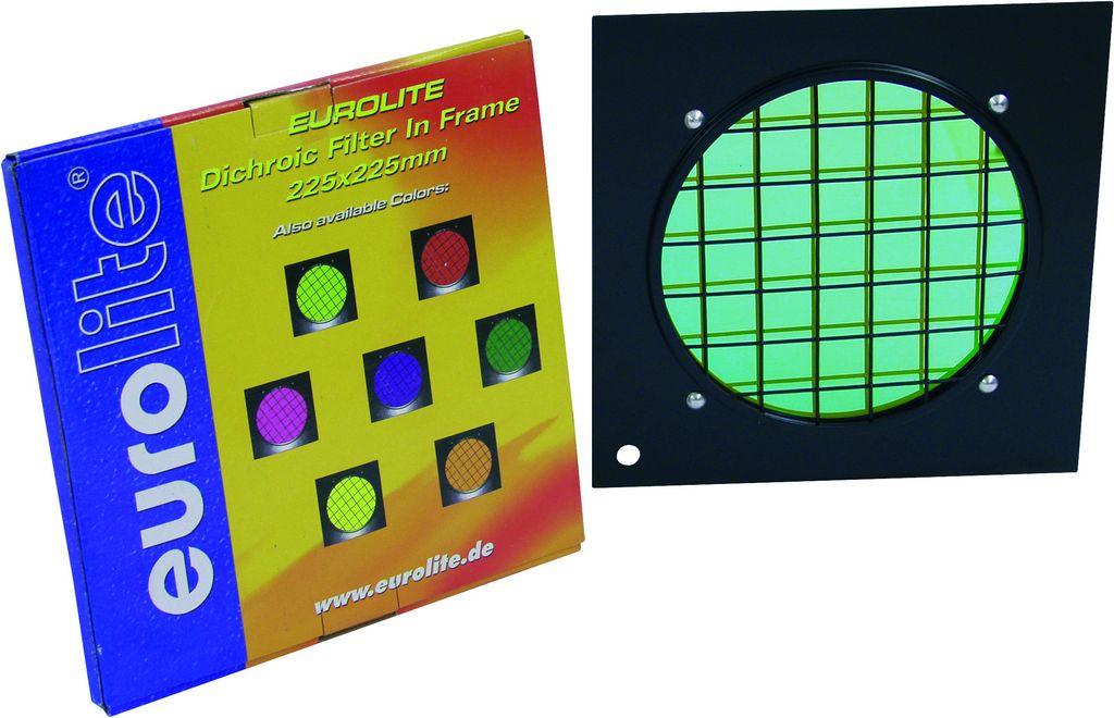Dichrofiltr PAR 56 zelený, černý rámeček