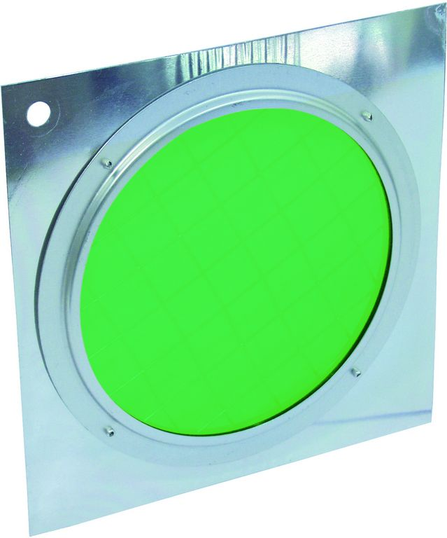 Dichrofiltr PAR-56 zelený, stříbrný rámeček